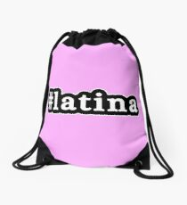 Latina - Hashtag - Black & White Drawstring Bag