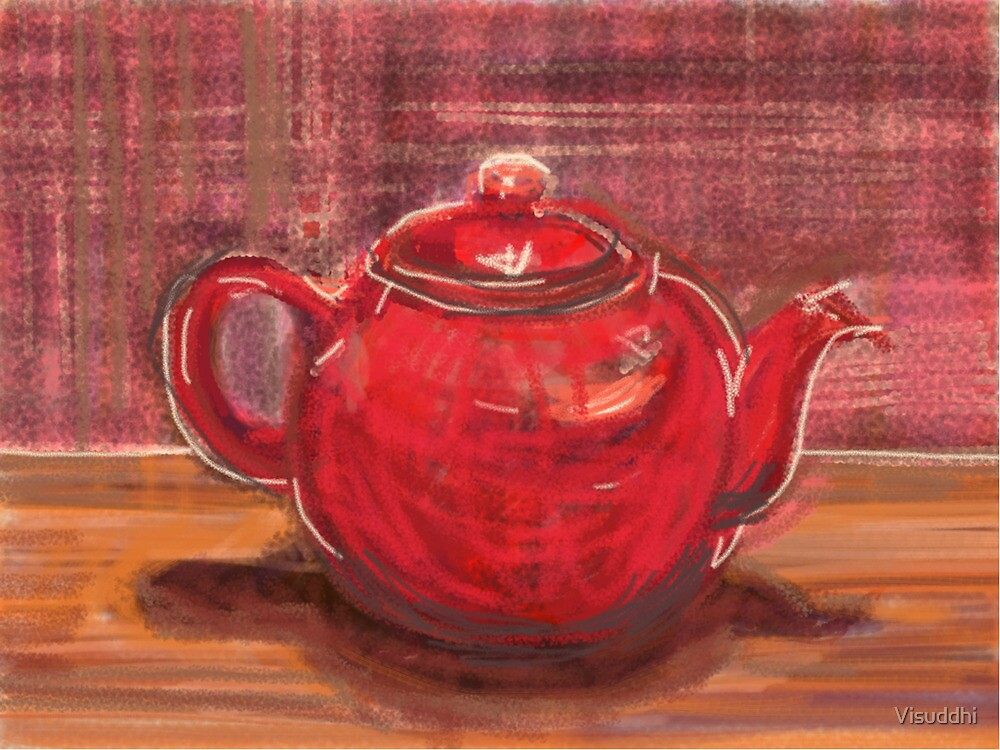 Red Teapot by Visuddhi