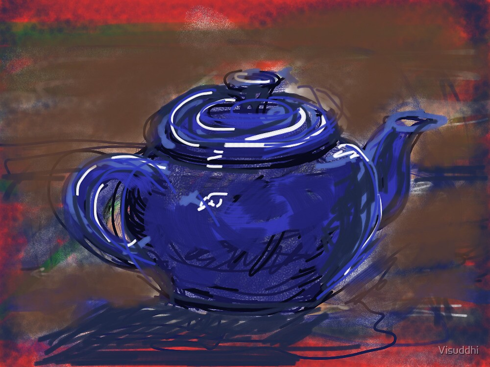 Blue Teapot by Visuddhi
