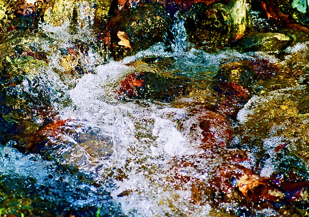 Mountain Brook Impasto by Charles Ober