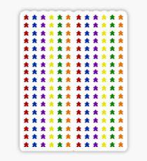 Multi-Colored Meeple Stickers Sticker