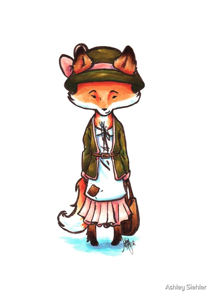 Mori Girl Fox by Ashley Weiler