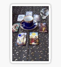 Tarot reading and tea Sticker