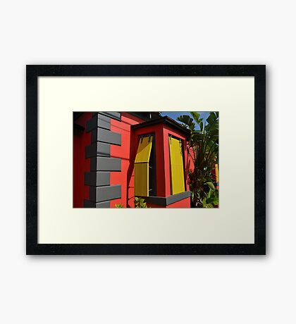 Colorful House in Nassau, The Bahamas Framed Print