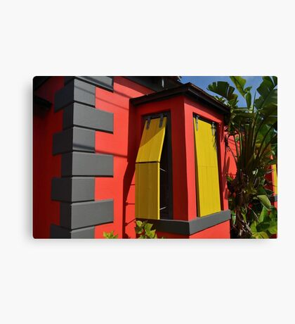 Colorful House in Nassau, The Bahamas Canvas Print