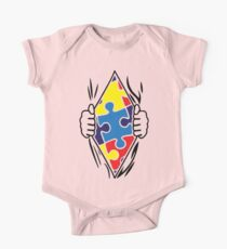 Autism Superhero One Piece - Short Sleeve
