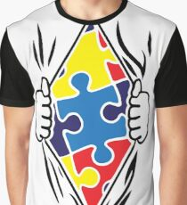Autism Superhero Graphic T-Shirt