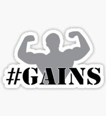 #GAINS (GREY) Sticker