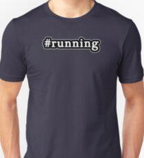 Running - Hashtag - Black & White T-Shirt