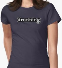 Running - Hashtag - Black & White T-Shirt