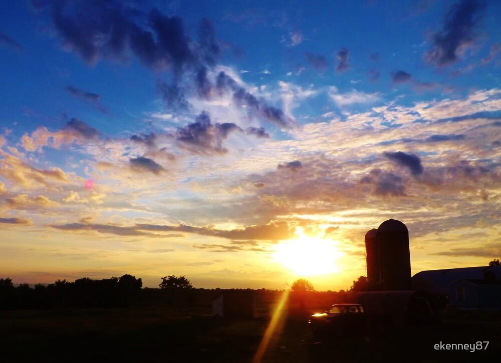 Silo Sunset by ekenney87