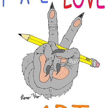 PeaceLOVEnART-reno paw by MMALS
