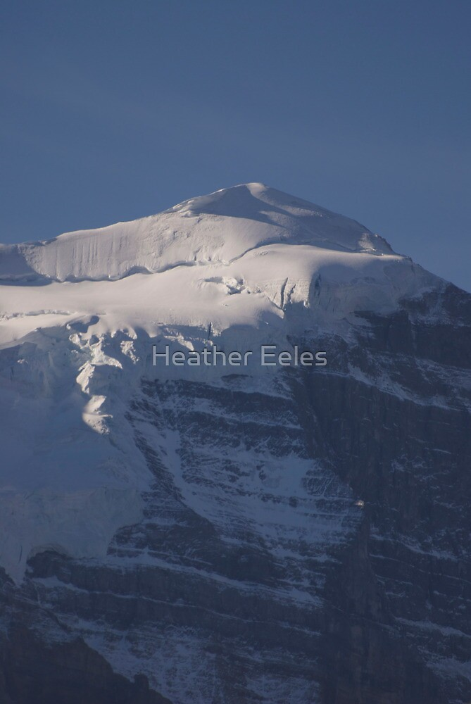 Mountain at Lake Louise by Heather Eeles