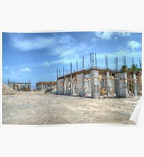 Building Construction in Paradise Island, The Bahamas Poster