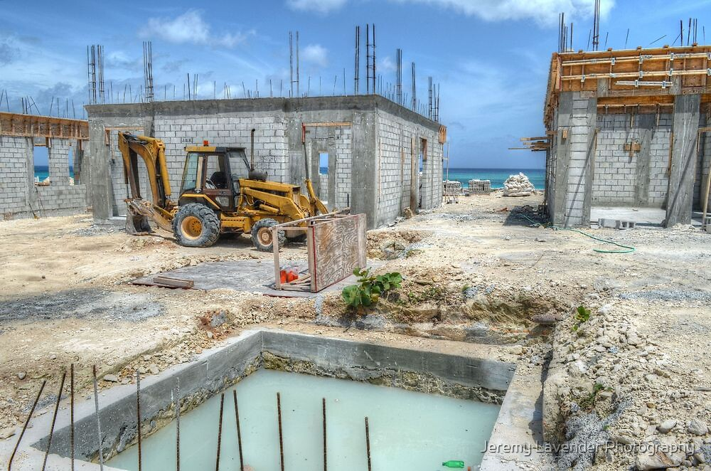 Building Construction in Paradise Island, The Bahamas by Jeremy Lavender Photography