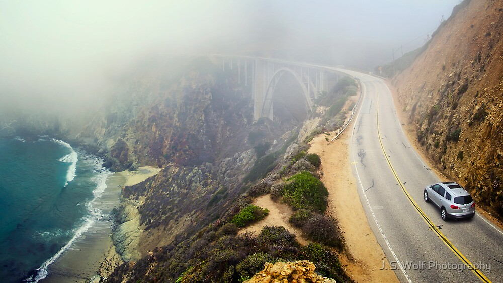 Car Into Fog by jswolfphoto