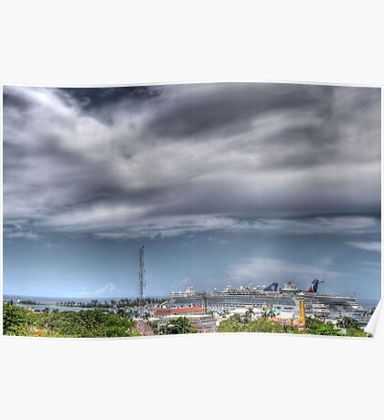 Nassau Harbour from Fort Fincastle - The Bahamas Poster