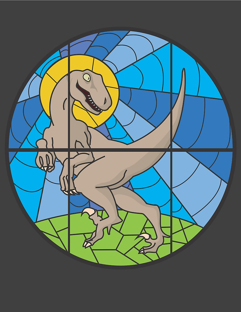 Stained Glass Velociraptor by Ramblings