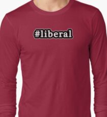 Liberal - Hashtag - Black & White Long Sleeve T-Shirt