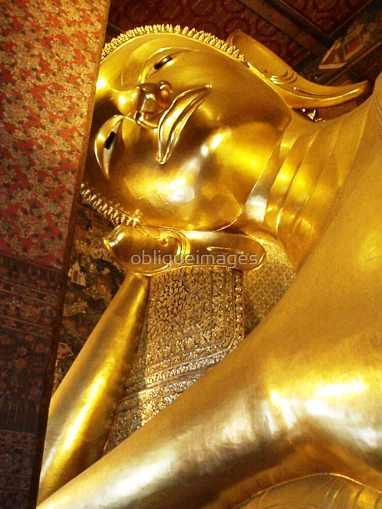 Reclining Buddha by obliqueimages
