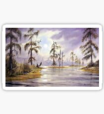 Sunrise Over Wakulla River Florida Sticker