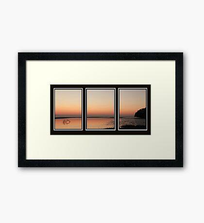 Sunrise Tryptich Framed Print