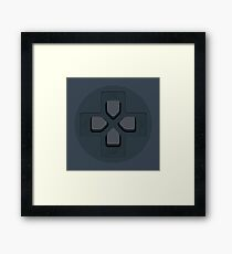 PS Controller D-Pad Framed Print