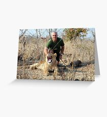 Walking with Lions - Africa. Greeting Card