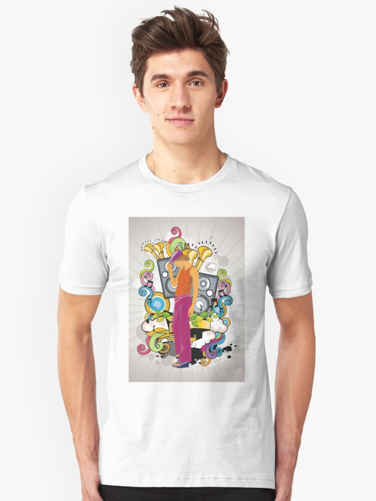 Music is my life- Music Age Unisex T-Shirt Front