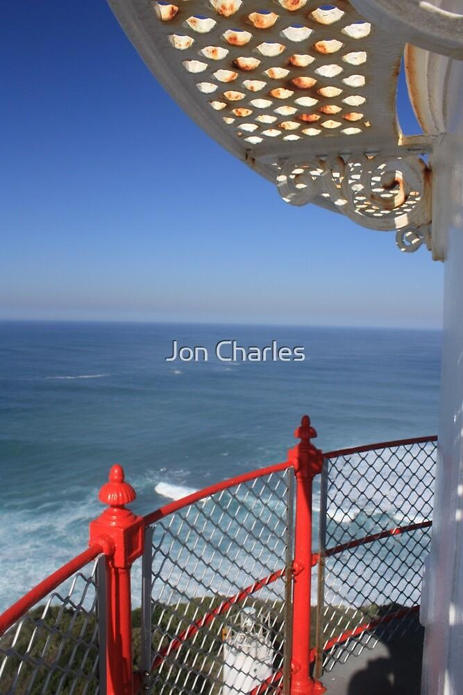 Lighthouse Iron Work - Cape Ottaway Victoria Australia by Jon Charles