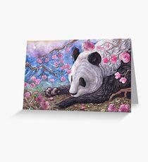 Lazy Panda Greeting Card