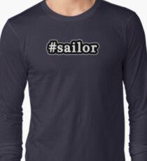 Sailor - Hashtag - Black & White Long Sleeve T-Shirt