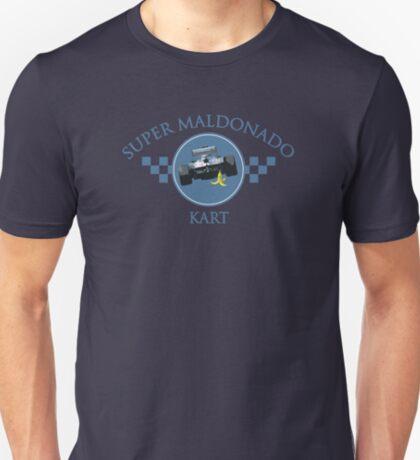 Super Maldonado Kart Classic - Blue Writing T-Shirt