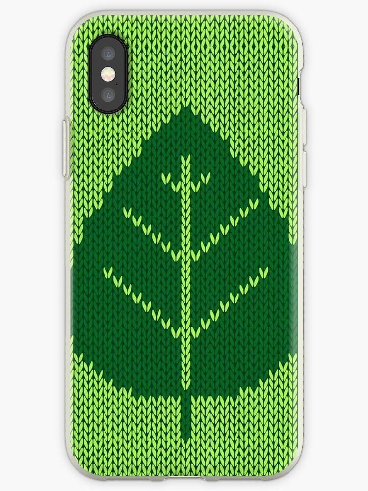 Nature Ecology Green Leaf Stitching iPod / iPhone 4  / iPhone 5  Case / Samsung Galaxy Cases  by CroDesign