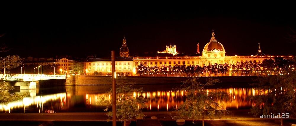 Shining city of Lyon, France by amrita125