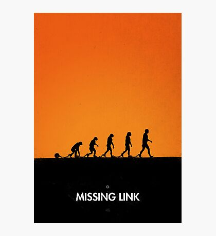 99 steps of progress - Missing link Photographic Print