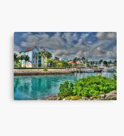 Harbour Village in Paradise Island, Nassau, The Bahamas Canvas Print