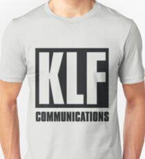KLF Communications (black bg, white letters) Unisex T-Shirt
