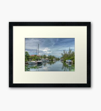 Peaceful River Scenery in Coral Harbour - Nassau, The Bahamas Framed Print