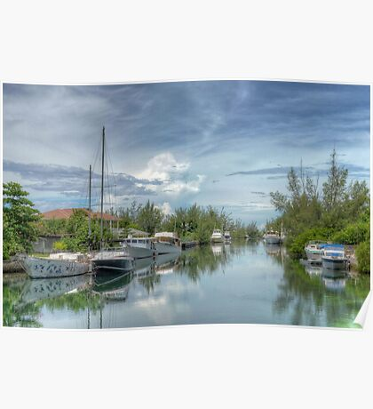 Peaceful River Scenery in Coral Harbour - Nassau, The Bahamas Poster
