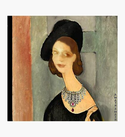 ( MY FUNNY GALLERY...I & MODIGLIANI)       Ah, you thought that i was ... Photographic Print