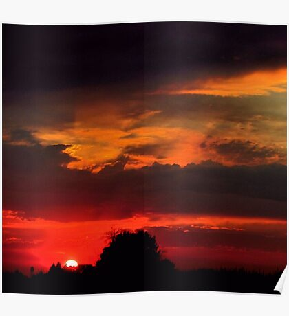 Brilliant Sunset Hues Poster