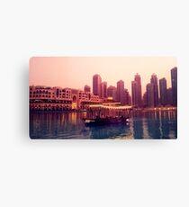 Dubai twilight river cruise Canvas Print