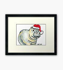2013 Holiday ATC 17 - Ho Ho Ho Hippo Framed Print