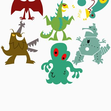 kaiju kids LARGE by marswillrule