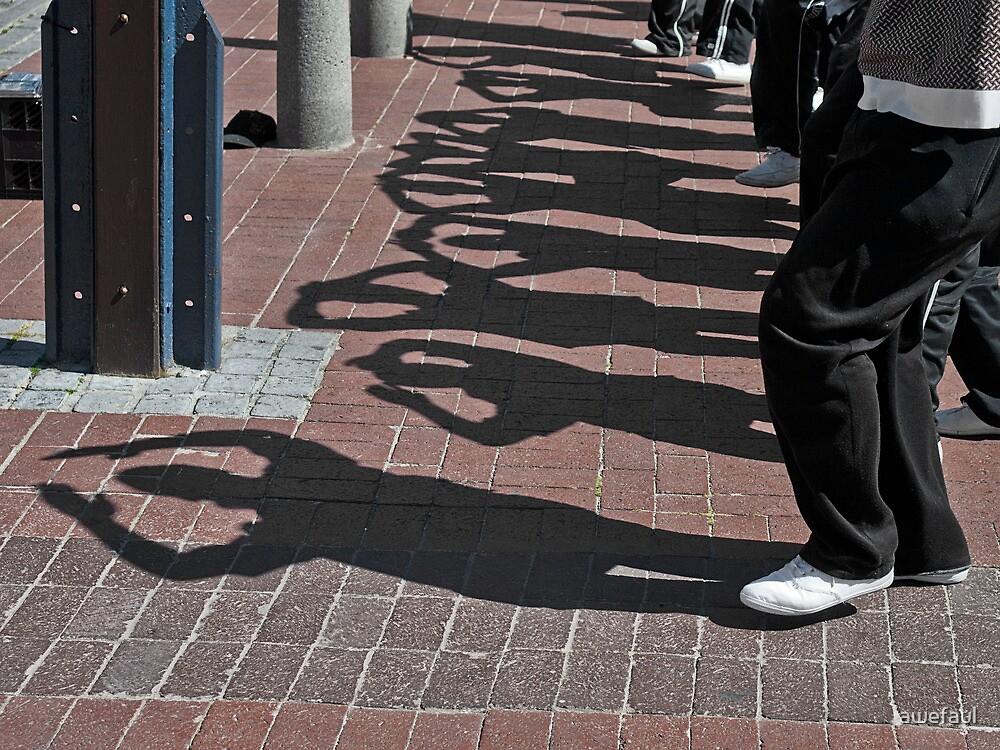 Dancing shadows by awefaul