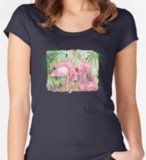 Flamingo Five Women's Fitted Scoop T-Shirt
