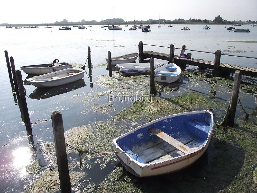 Blue Boats at Bosham by Brunoboy