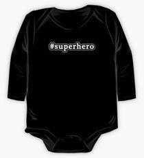 Superhero - Hashtag - Black & White One Piece - Long Sleeve