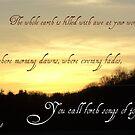 Psalms 65:8 by Paula Tohline  Calhoun